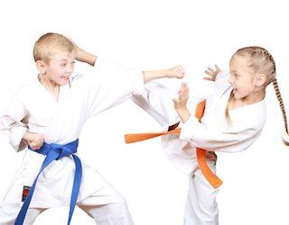 kids at a local karate club in Brisbane